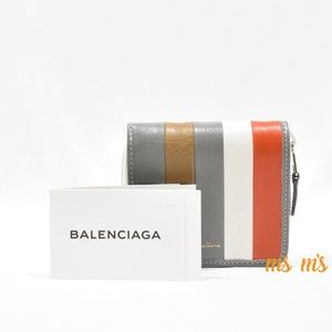Balenciaga Bags - NWT Balenciaga Striped leather Billfold Zip